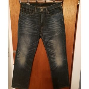 Levi's 514 Dark Blue Wash Jean's - Size 34 x 32